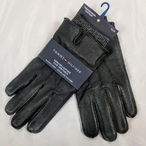Tommy Hilfiger Men's MED Leather Gloves w. Touch